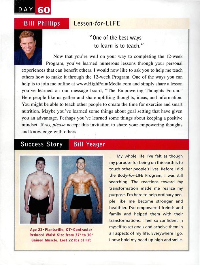 Success Journal Body For Life Article