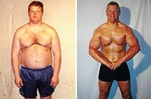 Men's Before and After Weight Loss Picture