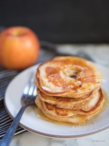 Breakfast Favorite Apple Ring Pancakes