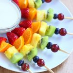 Delicious Rainbow Fruit Kebabs