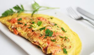 Delicious Salmon Omelet