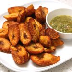 Easy & Healthy Baked Plantain Chips