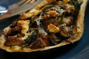 Easy & Healthy Roasted Stuffed Eggplant