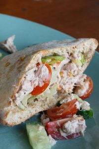 Easy to Make Tuna & Salad Pocket