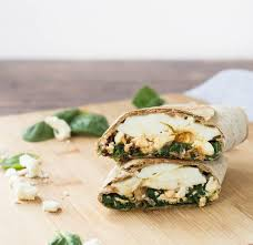 Filling Spinach & Egg White Wrap