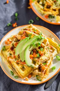 Flavorful & Easy Omelet Waffles