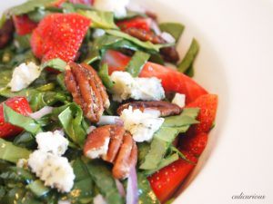 Flavorful Healthy Strawberry Spinach Salad