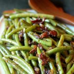 Healthy Bacon & Mustard Green Beans