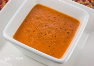 Healthy Chilled Roasted Red Bell Pepper Soup