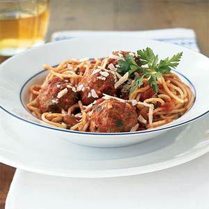 Healthy Classic Favorite Spaghetti and Meatballs