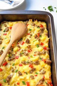 Healthy Egg & Sausage Casserole