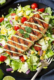 Healthy & Tasty Santa Fe Salmon Salad