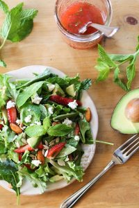 Healthy Turkey, Mint and Spinach Salad