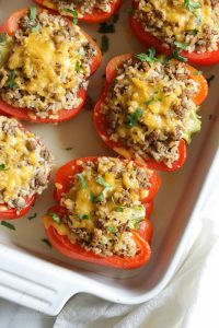 Healthy Turkey-Stuffed Bell Peppers