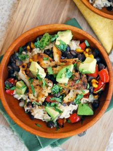 Healthy White Fish with Brown Rice & Veggies