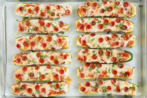 Healthy and Tasty Zucchini Pizza Boats