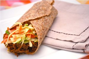 Incredible Slow Cooker Pulled Pork Wraps