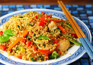 Quick and Easy Chicken Quinoa Stir Fry