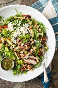 Packed Flavor Quinoa, Arugula and Roasted Veggie Salad