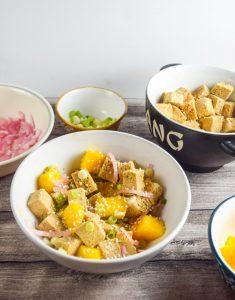 Simple & Healthy Mango Marinated Tofu