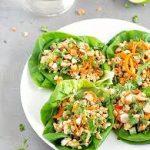 Simple High Fiber Shredded Chicken Lettuce Wraps