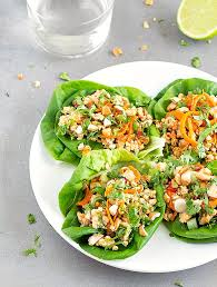 Simple High Fiber Shredded Chicken Lettuce Wraps