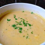 Tasty Celery Root & Green Onion Bisque