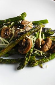 Vegetable Filled Lime-Spiked Asparagus